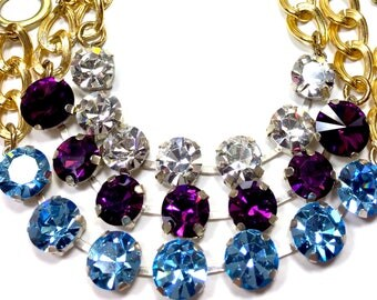Swarovski Crystal Chain Bracelets, Swarovski Bracelets, Crystal Bracelets, Chain Bracelets, Chain Link Bracelet, Swarovski Crystal, Bracelet