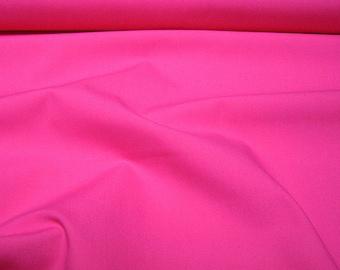Fabric pure cotton poplin hot pink