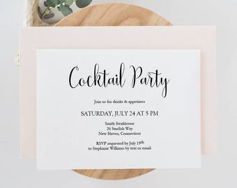 Printable Cocktail Party Invite