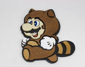 Wooden Tanooki Mario