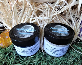 Activated Charcoal and Remineralizing Toothpaste Combo, 2oz Each