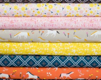 Half Yard Bundle Stay Gold by Aneela Hoey for Cloud 9 Fabrics- 8 Fabrics