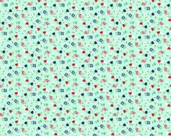 1 Yard A Little Sweetness by Tasha Noel for Riley Blake Designs- 6512 Mint Sweetness Floral