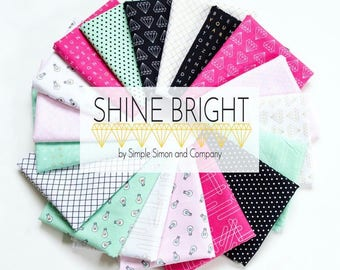 Fat Quarter Bundle Shine Bright by Simple Simon and Co. for Riely Blake Designs 21 Fabrics