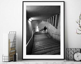 Black and White Print Photography, London Photography, Street Photography, London Print, Wall Art, Fine Art Photography, Woman, Prints, Art