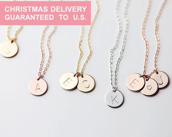 Personalized Gift for women Personalized Initial Necklace stocking stuffer Letter Necklace for women sister gift for her - CN