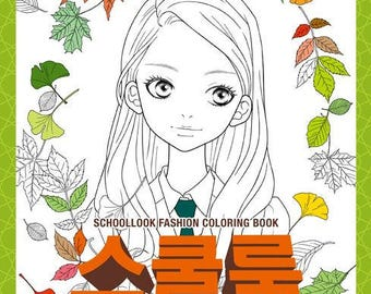 New Book School Look Fashion Coloring