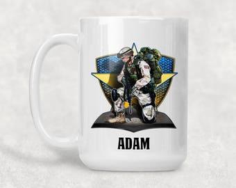 Military Recon Personalized Ceramic Coffee Mug
