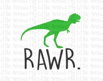 SALE- Dinosaur rawr SVG, Dxf, Eps, png Files for Cutting Machines Cameo or Cricut // dinosaur svg // dino svg // diy t shirt // toddler boy