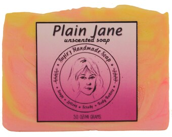 Plain Jane Unscented Handmade Soap