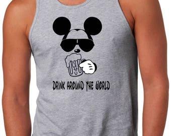 Drink Around the World, Epcot Shirt, Epcot Drink Around the World Shirts, Disney Shirt, Epcot Food and Wine Shirt, Drink Around the World T