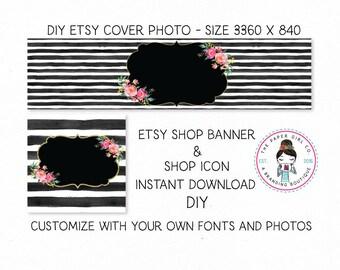 DIY etsy cover set etsy shop set premade DIY etsy set DIY etsy branding set Instant Download