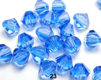 12 bicone Swarovski 6 mm - blue Sapphire (23)