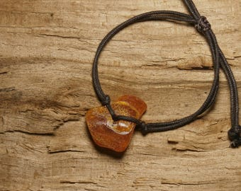 Natural amber A17, tiny bracelet adjustable cord