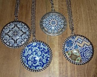 Necklace - Lisbon Blue Tiles