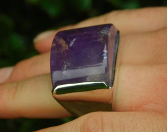 Pianegonda huge amethyst ring rock star sold out made in italy sterling silver amethyst.  Rare and wonderful
