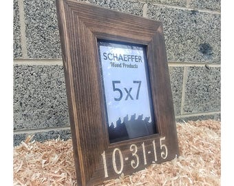 personalized frame wedding frame wedding gifts engraved wood frame rustic wedding gift - Engraved Picture Frame