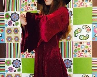 Vintage Victorian red velvet dress
