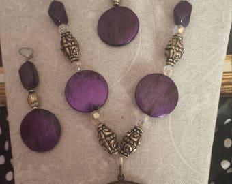 Necklace Royal Purple Crystal