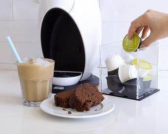 Dolce Gusto Clear Coffee Pod Storage Box, Capsule Holder Box , Kitchen Organizer, Minimal Decor Gift, Counter Top Storage, Kitchen Accessory