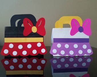 Minnie & Daisy Suitcase Favor Bags, Minnie and Daisy Favor Bags, Minnie Favor Bags, Daisy Favor Bags, SMALL SIZE (set of 10 bags)