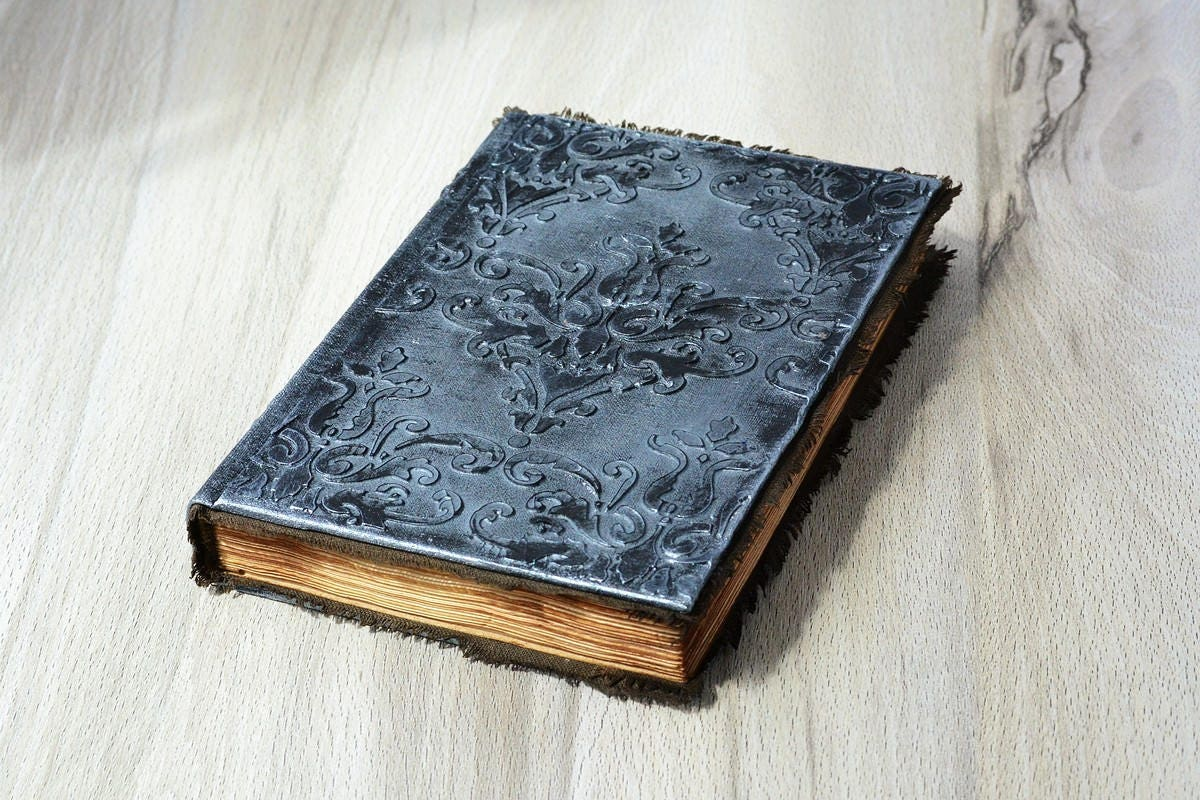How To Make A Book Of Shadows Cover : Journal a notebook grimoire book of magic mixed media