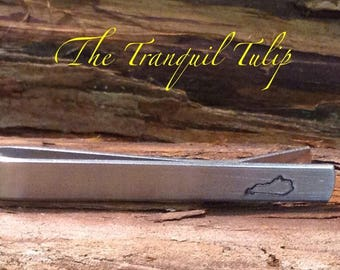 Kentucky Tie Bar - Hand Stamped Metal