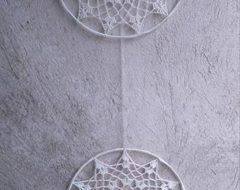 Crochet Decoraton Vintage Crochet Decoration Knitted Decoration Vintage Hand Made Knitted Decoration Window Decoration Wall Decoration