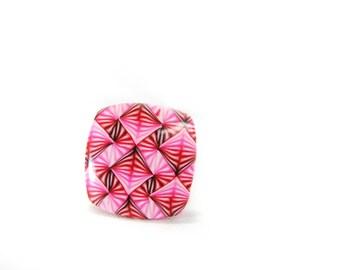 Ring adjustable pink pop