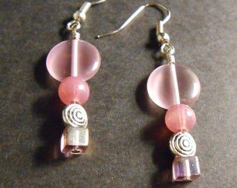 """Beautiful Purple """"Wind"""" Earrings"""