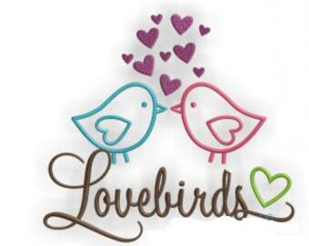 Loverbirds Flour Sack Towel Kitchen