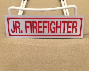Jr. Firefighter Text Decal