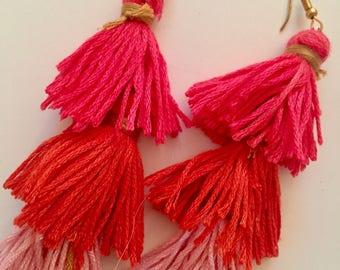 PRETTY IN PINK Tassel Earrings