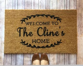 Wedding gift-Personalized door mat-Welcome mat- doormat-custom door mat-door mat-housewarming gift-realtor gift