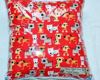 Children's Animal Cushion, Red Kids Cushion, Nursery Cushion, Doggy Cushion, Cushion for Children's Nursery, Soft Cushion, Dog Cushion