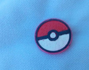 Pokeball 3d printed and hand painted pin.