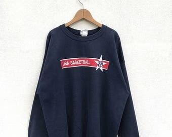 20% OFF Vintage Champion USA Basketball Sweatshirt/Champion Sweater/Champion Clothing/Champion Big Logo