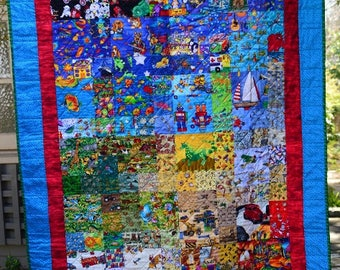 "Boys single bed size ""I Spy"" quilt"
