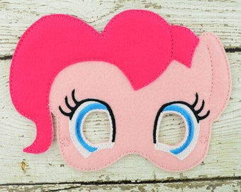 Pinkie Pony Children's Mask  - Costume - Theater - Dress Up - Halloween - Face Mask - Pretend Play - Party Favor
