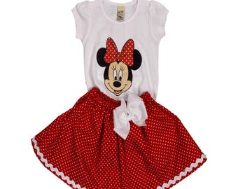 Girl Minnie birthday outfit Minnie Mouse age name dress Minnie dress girl Minnie outfit girl Minnie  name name age outfit Minnie Mouse dress