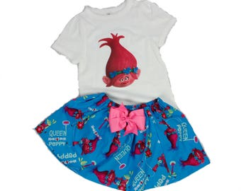 Girl Troll birthday outfit Girl name age outfit Girl Poppy outfit Toddler Troll birthday outfit Girl Troll name dress Girl Troll dress