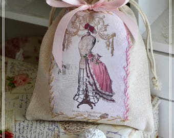 Charming purse its applied beige cotton fashion - model and petticoat pink