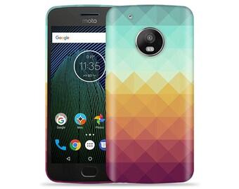 Motorola Moto G5 #Pixel Waves Design Hard Phone Case