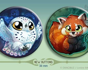Harfang and Red Panda buttons