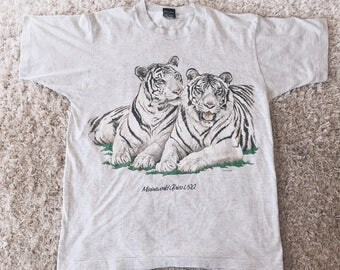 90's White Tiger Lovers Tee