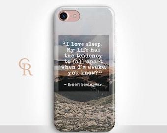 Hemingway Phone Case For iPhone 8 iPhone 8 Plus iPhone X Phone 7 Plus iPhone 6 iPhone 6S  iPhone SE Samsung S8 iPhone 5 Inspirational