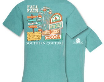 Southern Couture, like Simply Southern, Comfort Colors, Fall Fair, Long Sleeve, Short Sleeve, Fall Collection, Monogram Tee