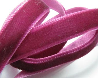 1 meter Ribbon 10mm Burgundy cherry VELVET