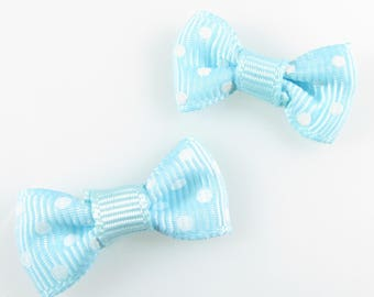 1 x bow flow blue with white dots