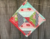 Scrappy Apron Strings Mini Quilt